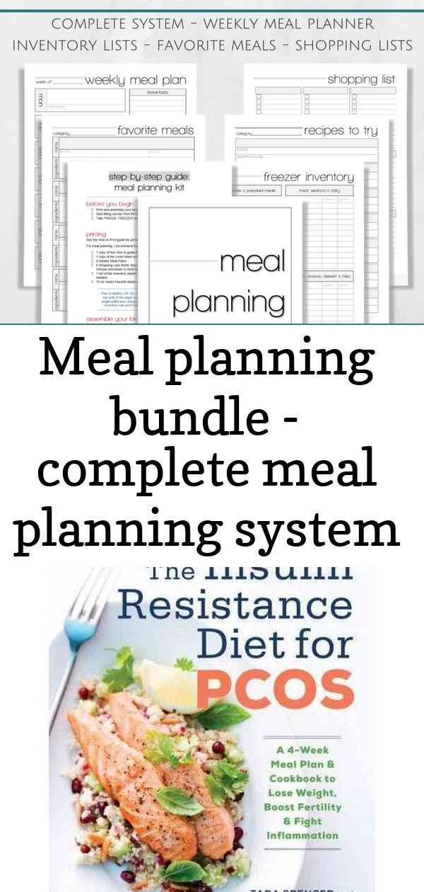 Meal Planning Bundle Complete Meal Planning System With Instructions Meal Planning Meals Week Meal Plan