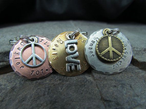 COME ON.. I'm going to be the one buying a bunch of dog tags to wear as necklaces LOL.. maybe I should check out their necklaces hmmm.. that's a thought ;)  LOVE these though!!   Dog Tag  Pet Tags  Pet ID Tag  Dog Collar Tag  by themadstampers, $9.00
