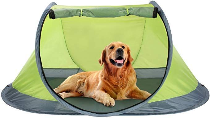 Winterial Outdoor Pop Up Pet Tent Dog Tent With 2 Inch Foam Pad Includes Carry Bag Dog Tent Tent Pet Travel Gear