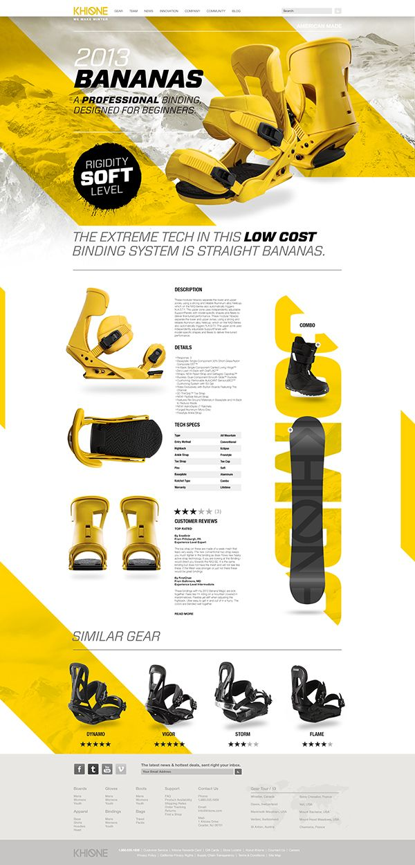 Khione Snowboard #Website by Dennis Ventrello, via #Behance #Webdesign