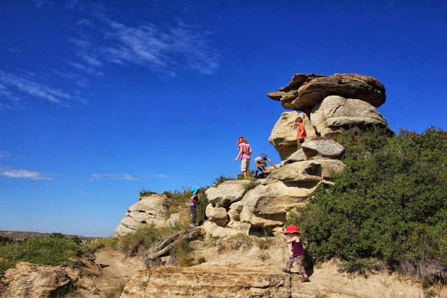 Camping in Writing on Stone Provincial Park (Family Adventures in the Canadian Rockies)