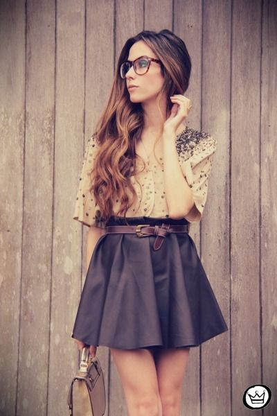 Girly.Full Skirts, Fashion, Summer Outfit, Style, Leather Skirts, Black Skirts, Skater Skirts, Cute Outfit, Geek Chic