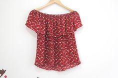 Tutorial y patrones de costura: blusa sin hombros