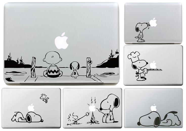 チャーリー·ブラウンと犬用appleステッカーmacbookの空気11 12 13プロ13 15 17網膜デカールloptop壁車ビニールロゴ