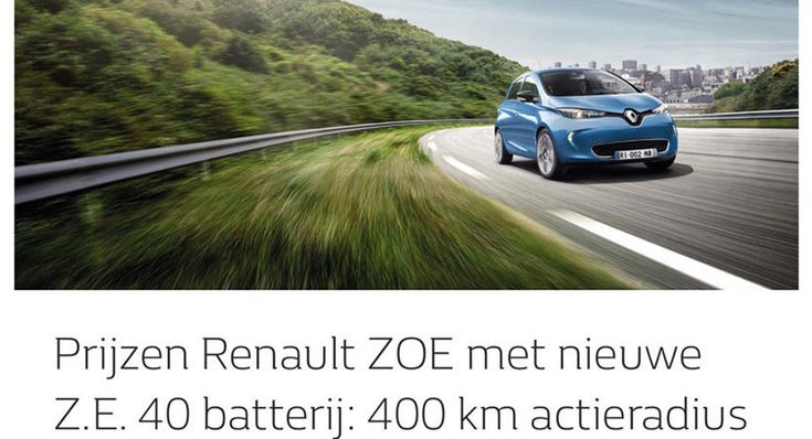 Revised Renault Zoe Leaks With 400 km Range