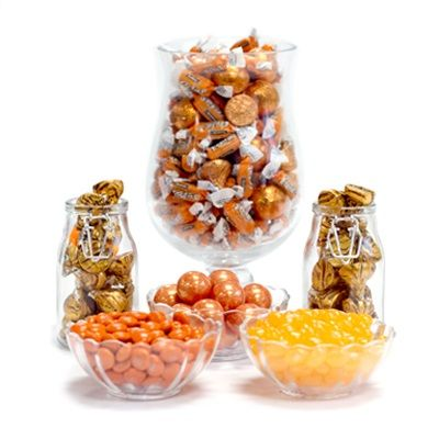 Orange Candy Buffet Ideas. Huge selection of assorted candy types, colors & containers - perfect for planning your candy buffet.