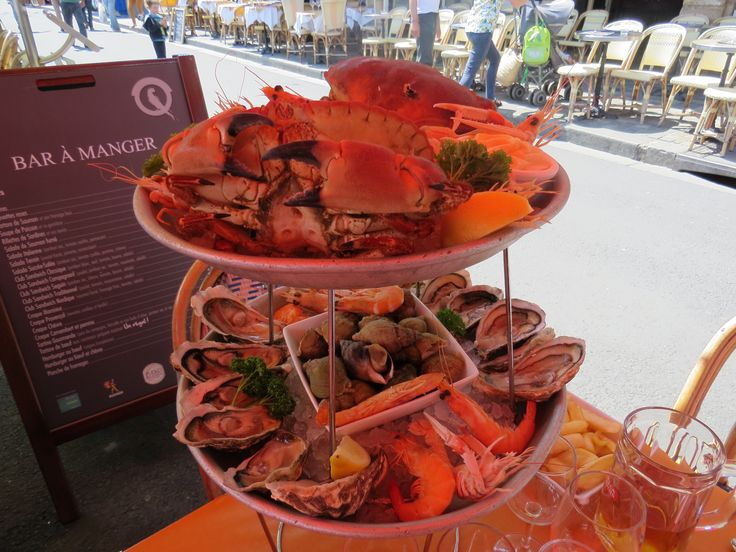Celebrity Cruises - Aboard Celebrity Eclipse - Seafood meal in Honfleur