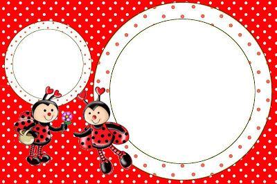 Joaninha - Kit Completo com molduras para convites, rótulos para guloseimas, lembrancinhas e imagens!