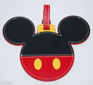 mickey+mouse+purse | Disney Parks Mickey Mouse Large Luggage Bag Tag New | eBay