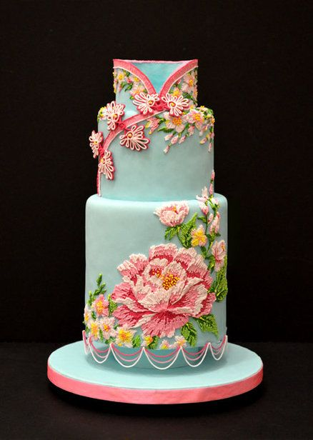 Chinese Dress Inspired Cake by Kelvin Chua - Inspired by a traditional mandarin dress (Cheong Sam)