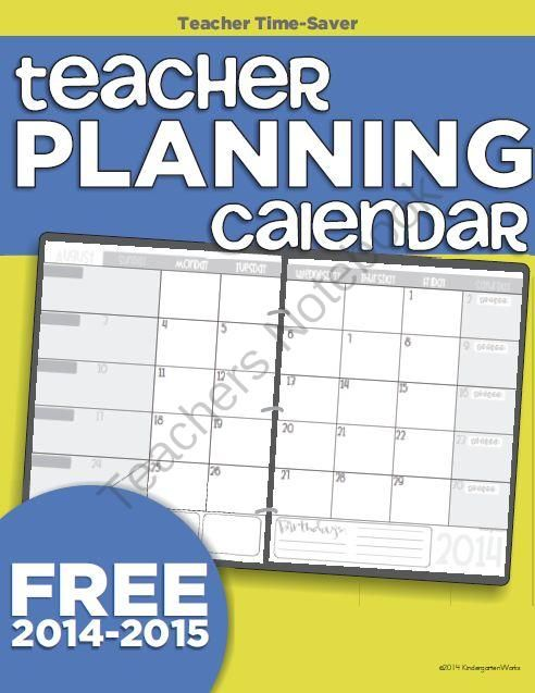 teacher calendar template