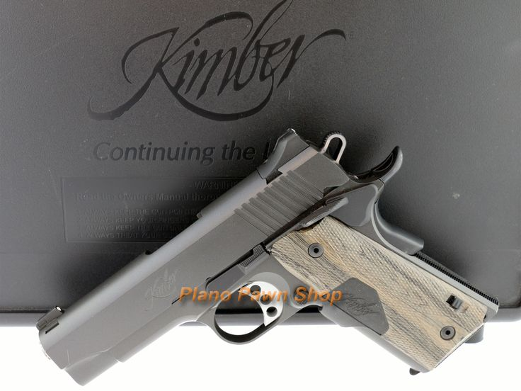 Kimber Pro Carry II .45ACP with Crimson Trace Laser Grips, 2 Mags & Case from our Online Gun Pawn Shop - Plano Pawn Shop