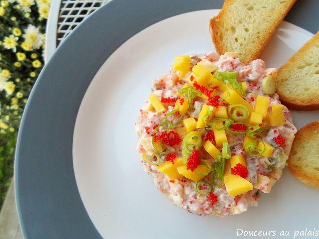 Douceurs au palais: Tartare de saumon épicé à la mangue