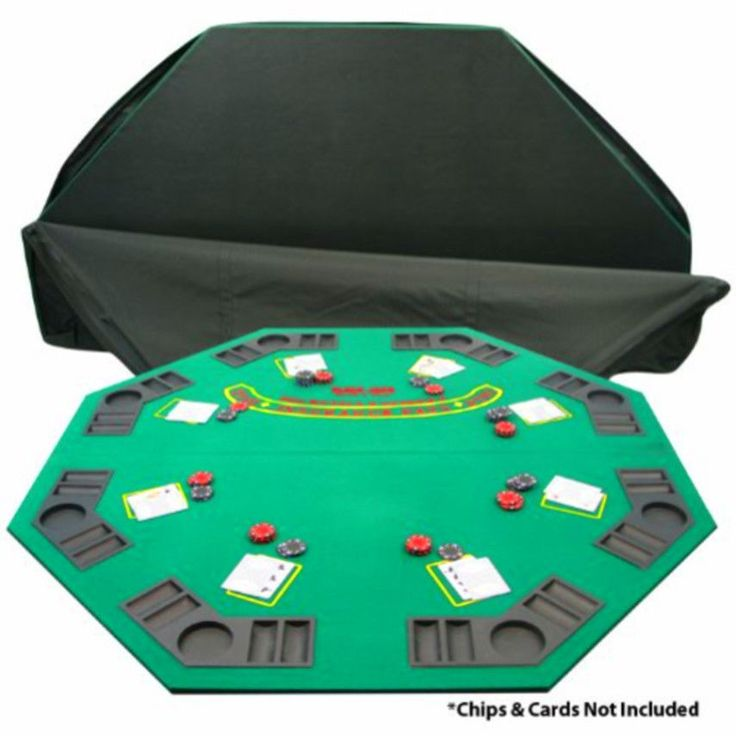 Poker and Blackjack Table Top with Case Trademark Poker Deluxe Solid Wood #TrademarkPoker