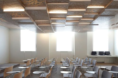 Amazing ceiling detail - The Press Conference Room designed by h2o architects for the French Ministry of Agriculture