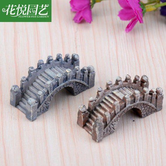 Accessories Miniature Dollhouse FAIRY GARDEN Micro Mini Stone Bridge