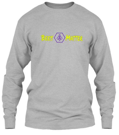 Matter Bees Sport Grey Long Sleeve T-Shirt Front
