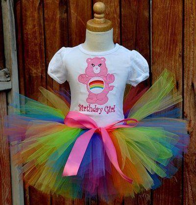 care bear first birthday ideas   M2MCB8934 Girls M2M Boutique Classic Care Bears Rainbow Birthday Tutu ...