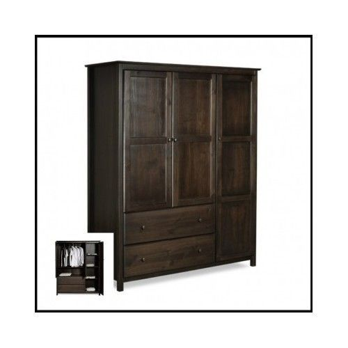 Bedroom-Wardrobe-Armoire-Closet-Cabinet-Wood-Furniture-Storage-Bedroom-Stand-TV