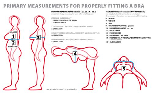 How-to determine bra size is fundamental in getting a correctly fitting bra. This guide about proper bra size measurement will help a bra-wearer find the right size range for their body and spot whether or not a bra fits correctly, thereby allowing anyone to shop for a bra more knowledgeably and avoid poor fitting advice offered by unscrupulous or unknowing fitters. This guide will detail the tools needed, dos and don'ts, the step-by-step measuring process, size calculation, the process…