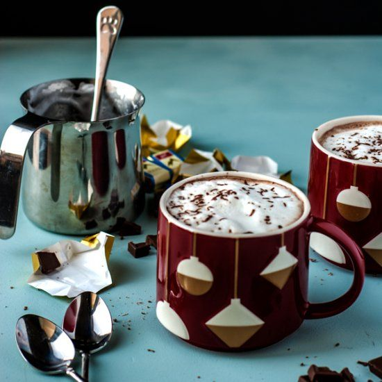 Healthy, calming, hormone balancing maca root hot chocolate. Perfect cold weather drink!