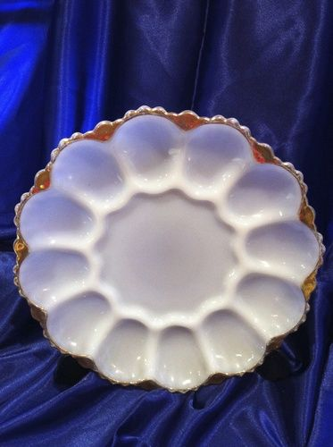 ANCHOR Hocking 1950's Devilled Egg Plate, $18.00 NZD **SOLD**