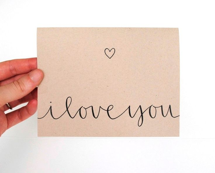 Romantic greeting card i love you modern calligraphy