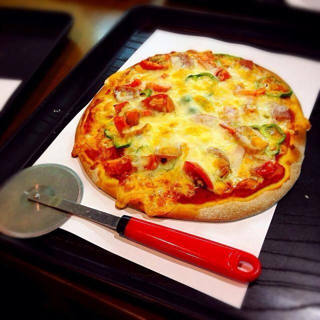 チロルの森でピザ作り体験☻ - 9件のもぐもぐ - マルゲリータピザ by kaoribb056