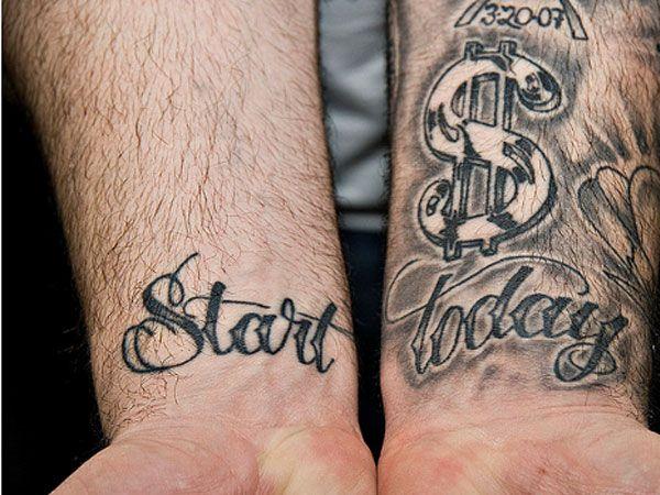 Start Today Wrist Tattoo