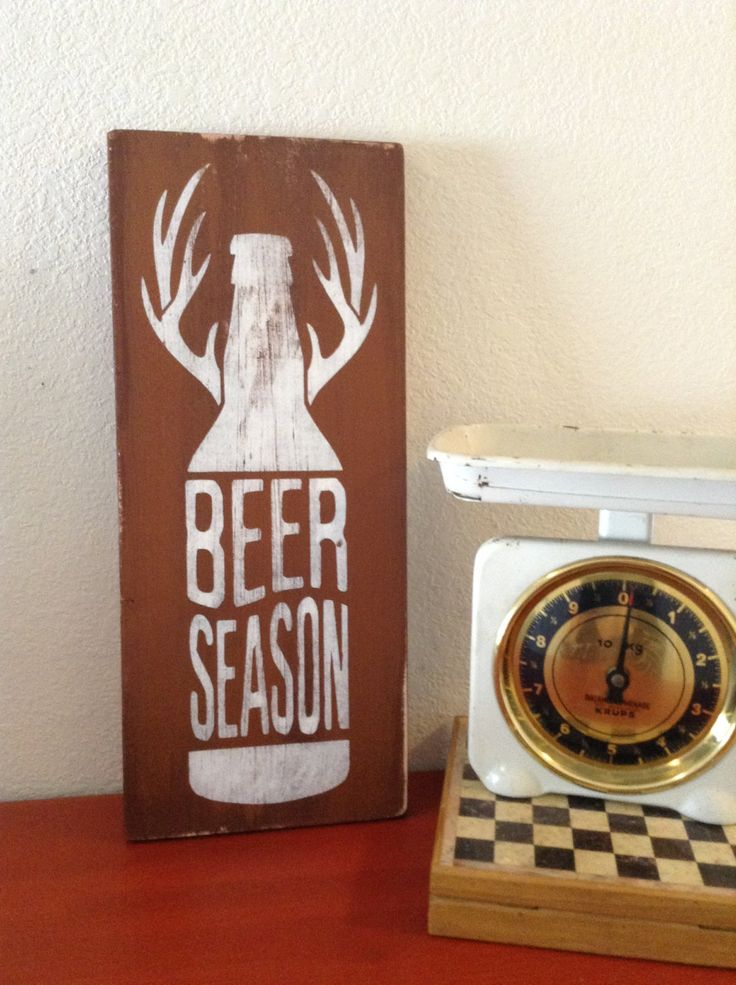 Beer Season - rustic wooden sign for the beer-loving hunters out there by StoreOfHappiness on Etsy