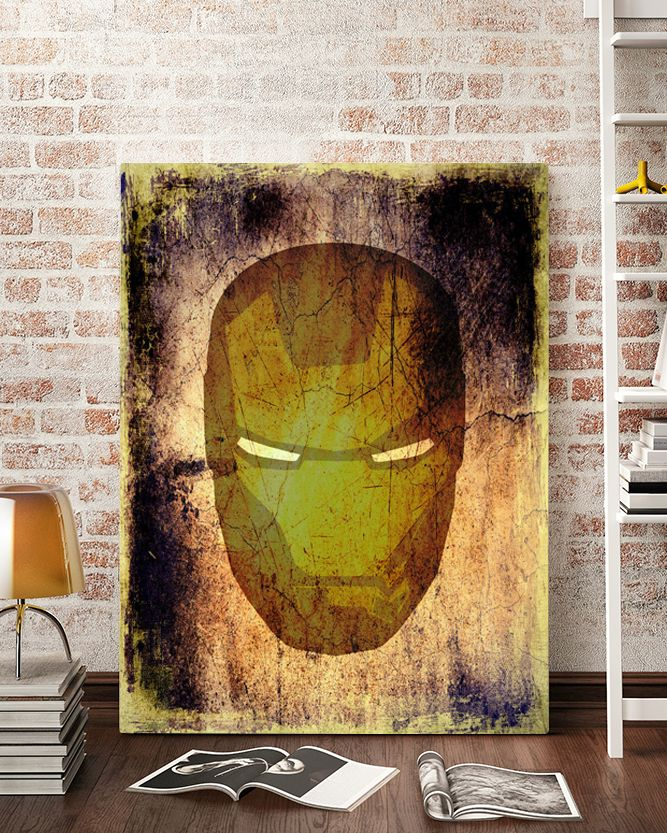Iron Man Canvas Art - Marvel Canvas Art @ http://artzeedesigns.com/products/canvas-art-marvel-inspired-art-comic-book-characters-iron-man-by-artzee-designs.html