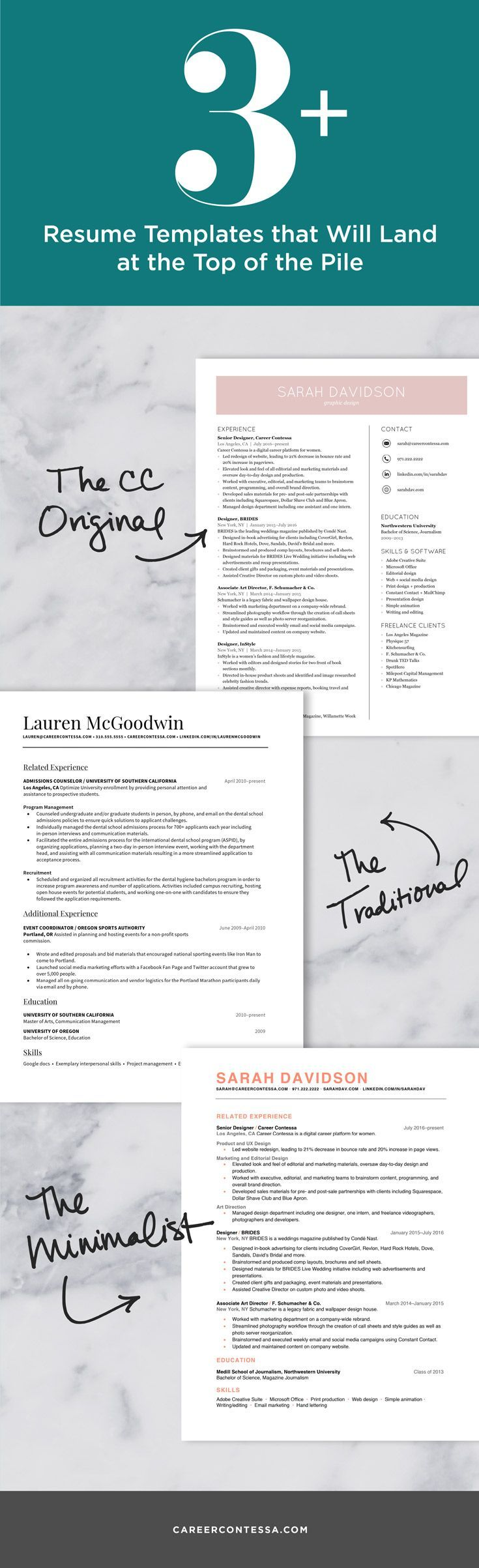 Well Designed Resumes 19 Best Professional Resume Templates Images On Pinterest