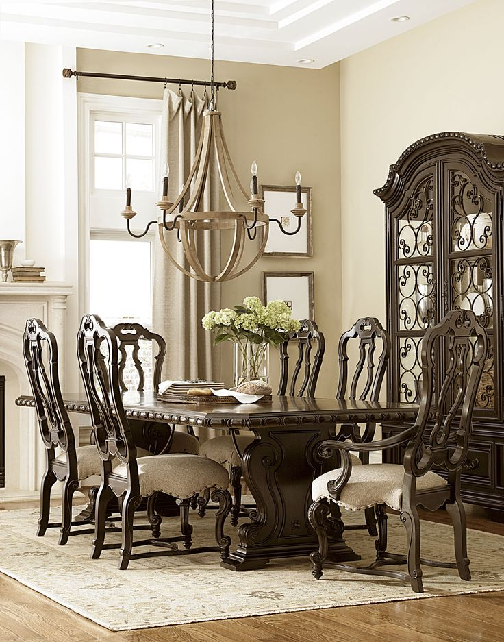 castella collection valencia dining table valencia display cabinet dining side chair and