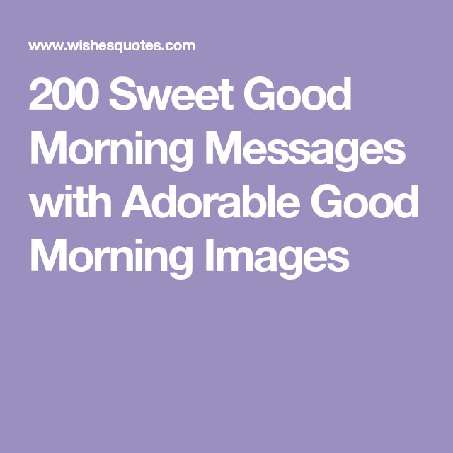 200 Sweet Good Morning Messages with Adorable Good Morning Images