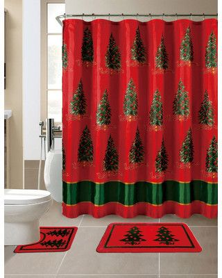 black and red shower curtain set. Wayfair 15 Piece Christmas Printed Shower Curtain Set 25  unique shower curtains ideas on Pinterest