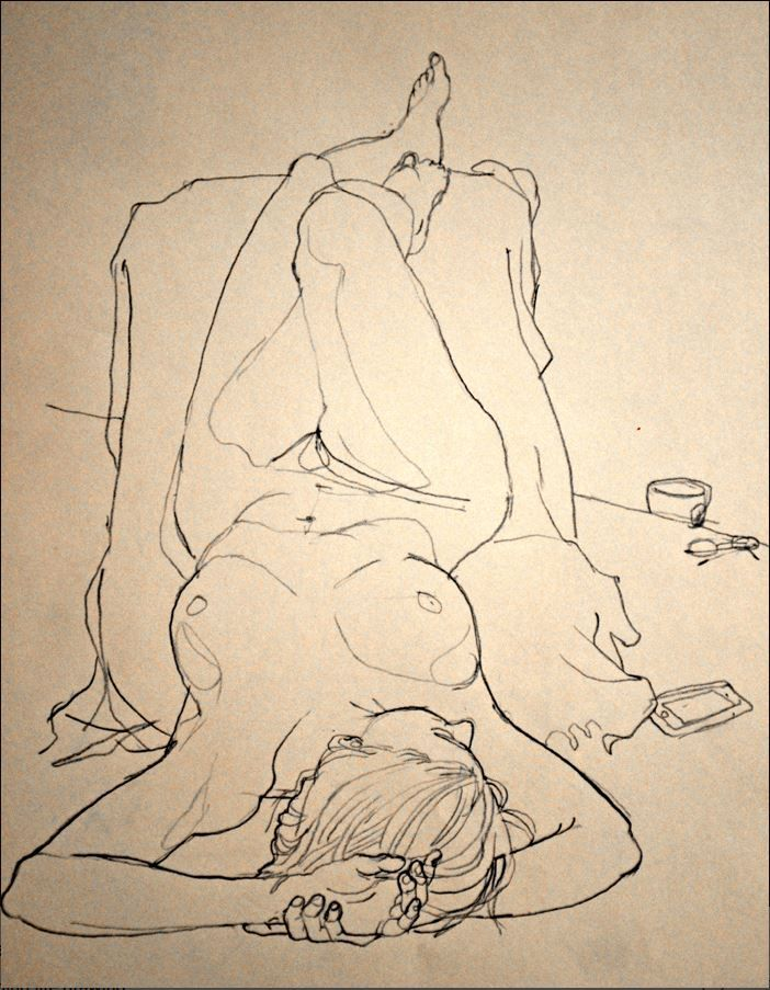 "Johnson, Rich - ""Thursday Morning Life Drawing"" #gesture, #figure, #figurative…"
