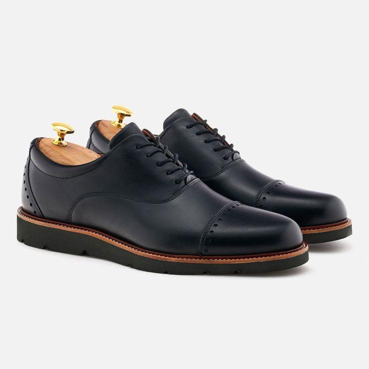 Wallis Oxford - Calfskin Leather - Black