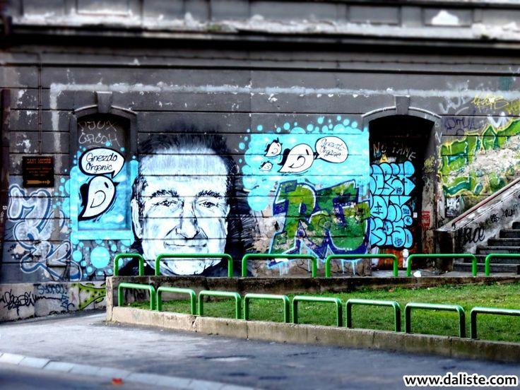 In memory of Robin Williams @ daliste.com #daliste #streetart #belgrade #beograd #serbia #robinwilliams #inmemoriam #inmemoryofrobinwilliams