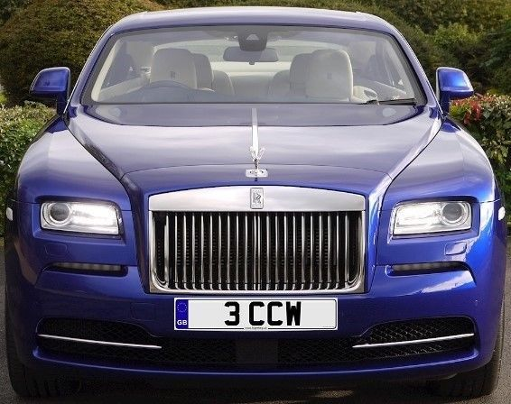 Private Number Plate: 3 CCW