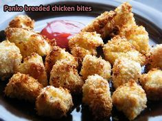 A healthier spin on chicken nuggets, a recipe for the big boss oil-less fryer for panko crusted chicken nuggets