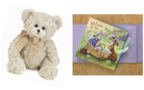 ALEX-CLARK-Bunny-Baby-Boy-Photo-Album-Book-amp-BEARINGTON-BEAR-Baby-Huggles