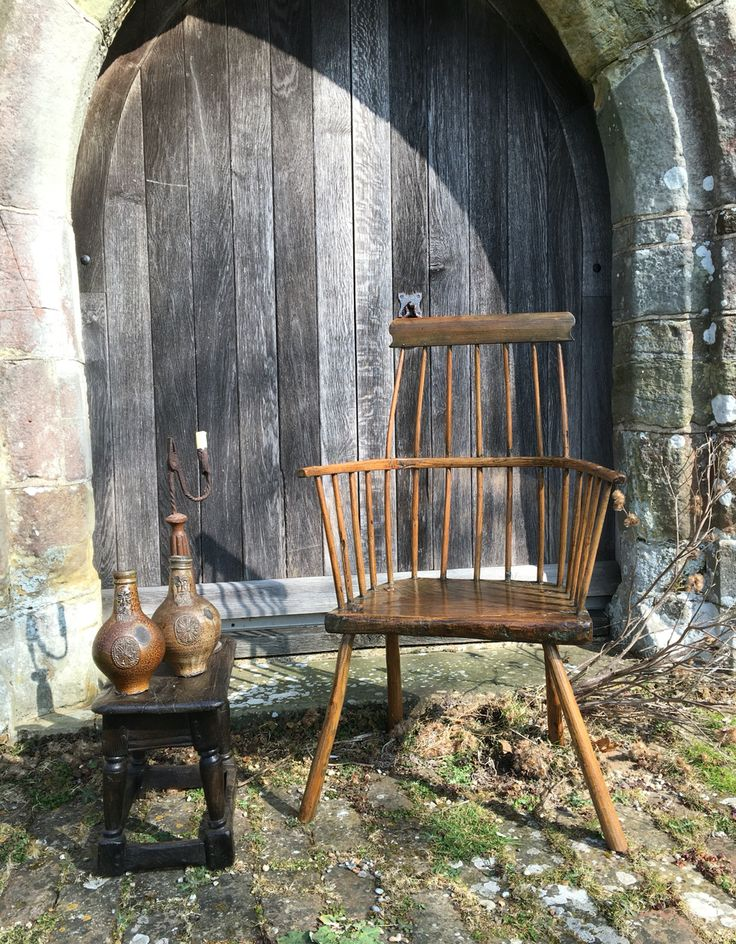 18th century Welsh stick back chair.