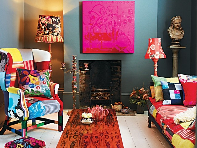 bold colors and patchwork