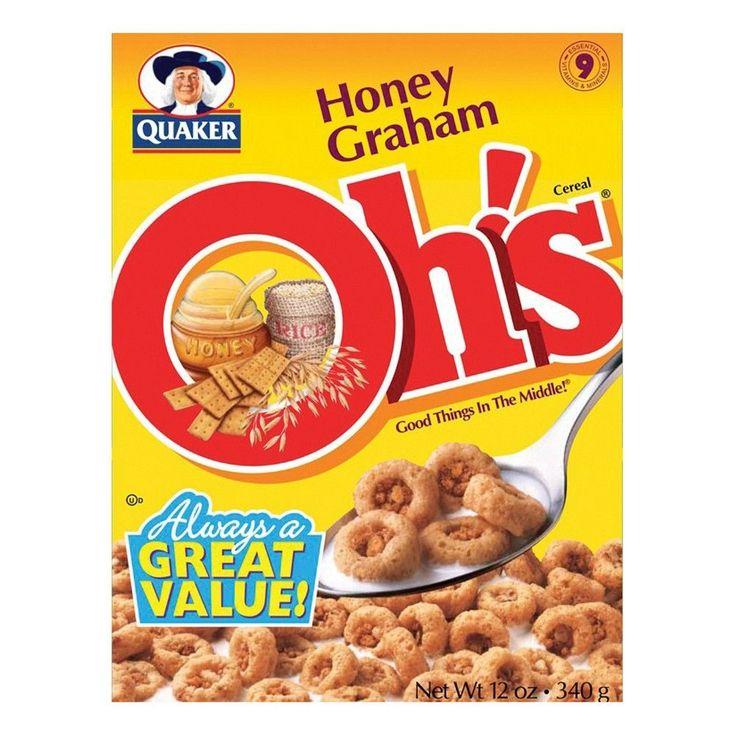 Honey Graham Oh's Cereal - 12 Oz - Quaker Oats