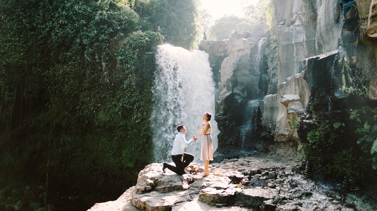Harish and Neha has been together for 8 years until finally Harish decided to proposed by Bali proposal photography. It was full of surprised for Neha, as she doesn't know about the whole trip in Bali. #bali #engagement #proposal #photography #waterfall #ubud