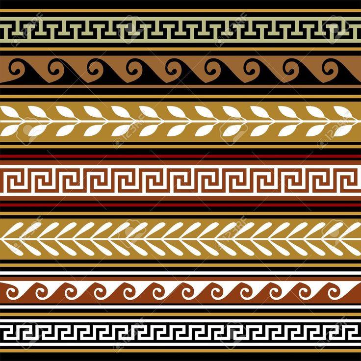Greek Geometric Patterns Greek Set of Geometric