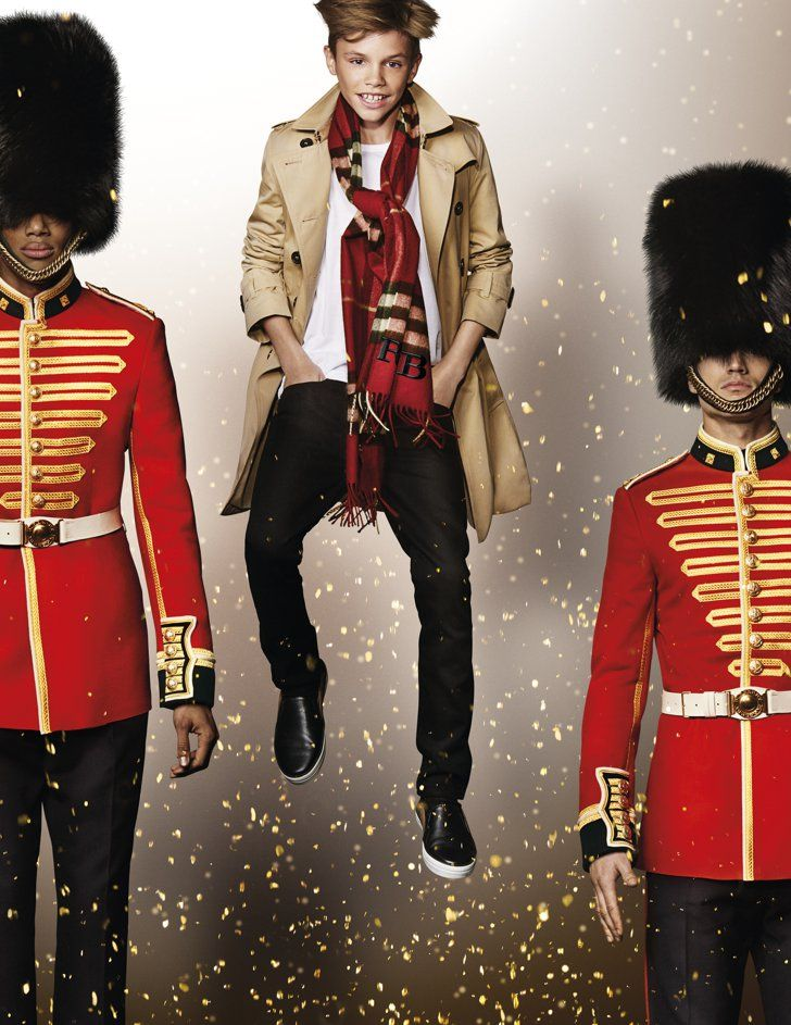 Pin for Later: Romeo Beckham Personifies Festive Cheer in Burberry's New Campaign Romeo Beckham