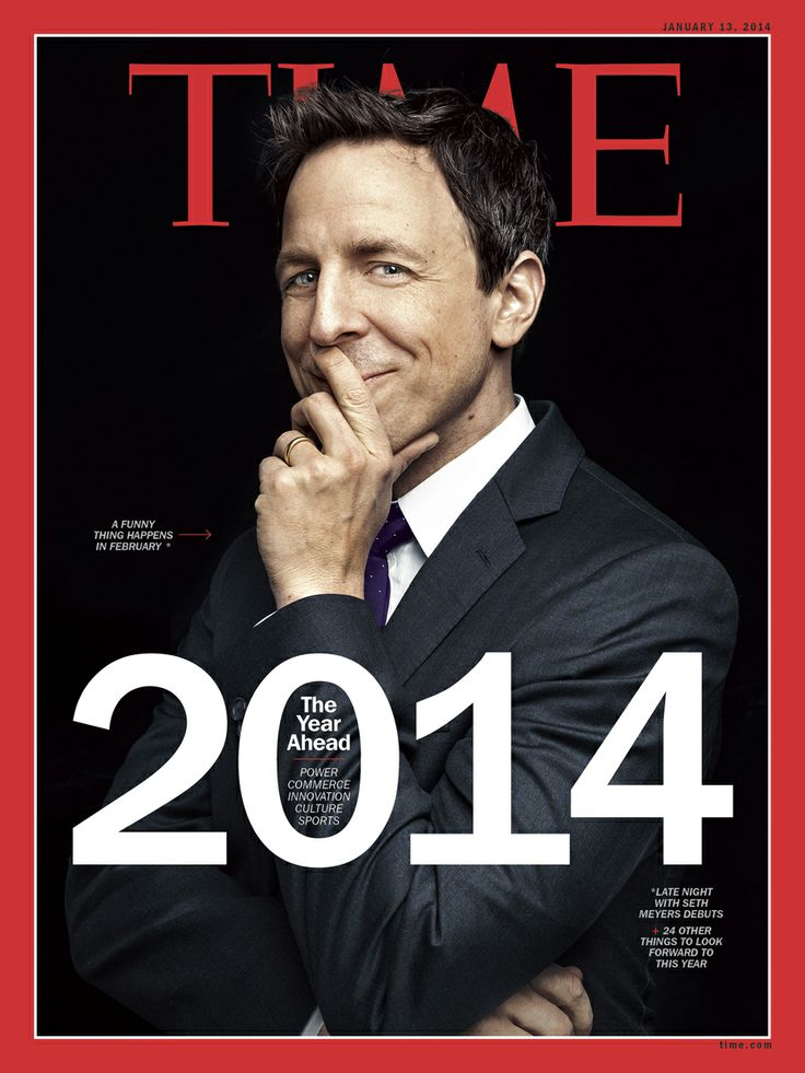 2014: The Look Ahead? Seth Meyers has things covered. Click the photo to read TIME's piece on Late Night with Seth Meyers!
