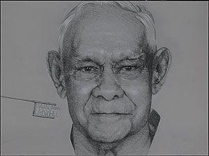 Vernon AH KEE, waanji man (mythread series panel 3), 2007