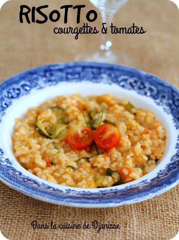 Risotto à la courgette et à la tomate